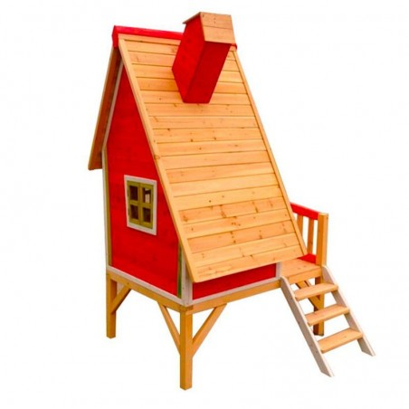 Casita Infantil Alicia - Roja. 10 mm, 183 x 154cm