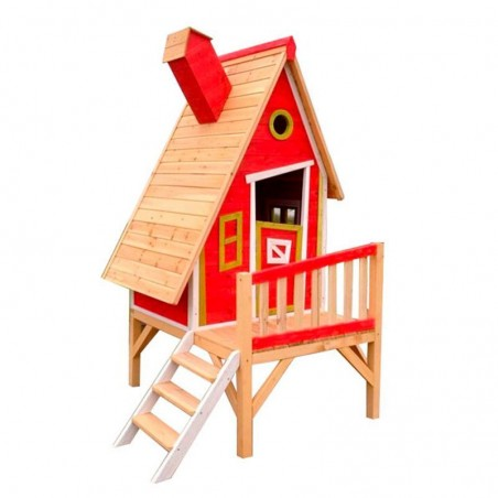 Casita madera Alicia Roja. 10 mm, 183 x 154cm