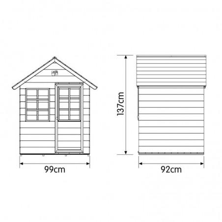 Medidas casita infantil Biel 99 x 92 x 137 cm