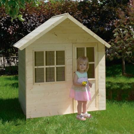 Casita de madera de Juguete. Para jardín. Casita infantil sencilla.