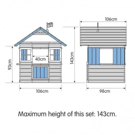Medidas casita infantil Boris 106 x 98 x 143 cm
