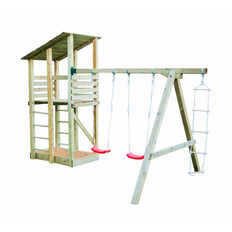 Parque infantil de madera Minna sin tobogán 440x260x300cm
