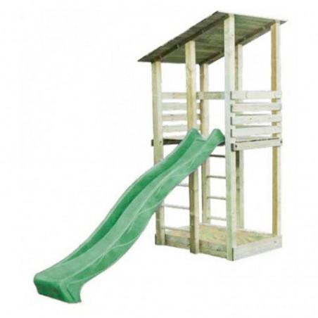 Parque infantil Mia tobogán verde 140x140x300cm