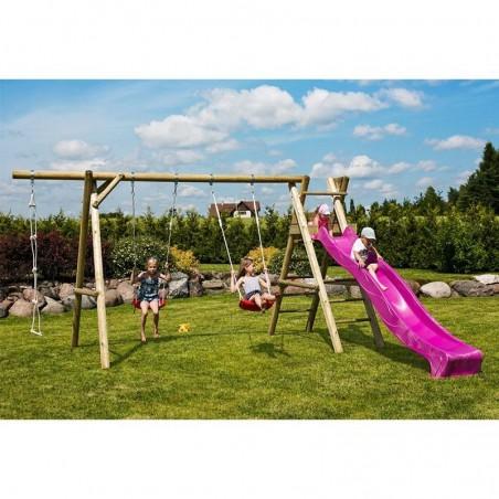 Parque infantil Henry 440x200x230cm | Columpio de madera