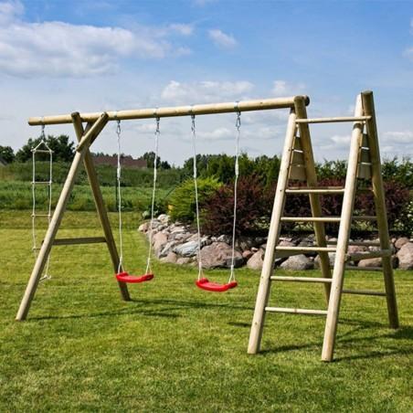 Parque infantil Henry 440x200x230cm | Columpios de madera