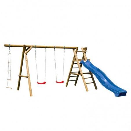 Parque infantil Henry 440x200x230cm | Tobogán azul