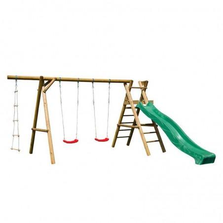 Parque infantil Henry 440x200x230cm | tobogán verde