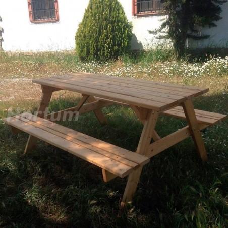 Mesa de madera para jardín - Mesa picnic Sin tratar