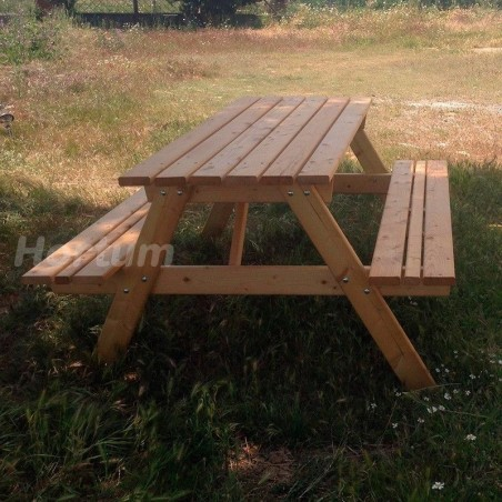 Mesa de madera para jardín - Sin tratar