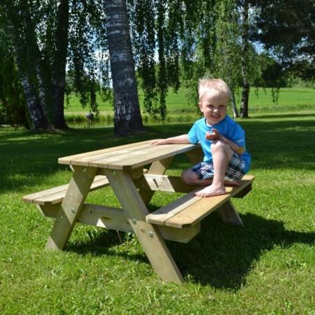 Mesa de madera para niños 90 x 80 x 50 cm
