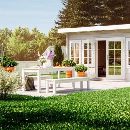 Mesa de jardín en madera tratada Sanne18