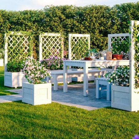 Mesa de jardín en madera tratada Sanne 12