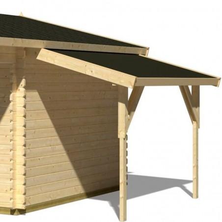 Alero lateral para casetas de madera. Pergola adosada caseta madera