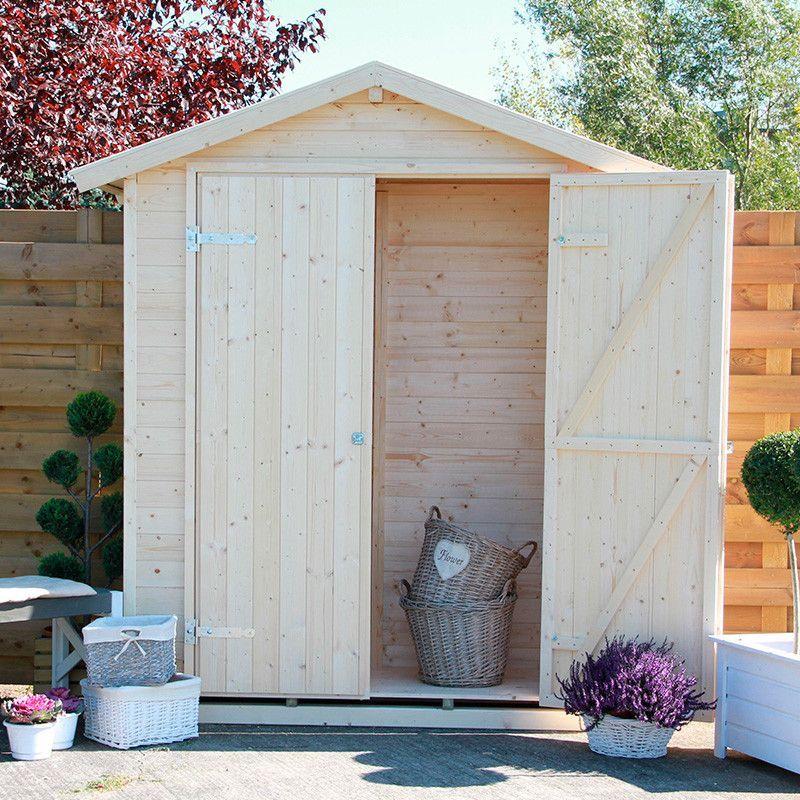 Cobertizo madera Eger. 13 mm, 170 x 66 cm. 1.2 m²