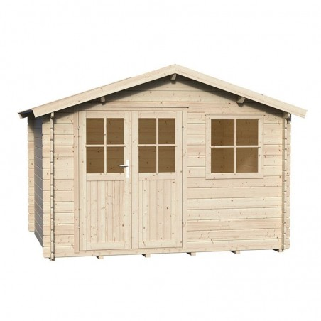 Caseta madera jardín Mila. 28 mm, 300 x 250 cm, 7,5 m²