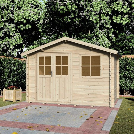 Caseta madera Mila. 28 mm, 300 x 250 cm, 7,5 m²