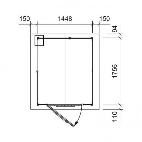 Plano cobertizo de madera Tata. 13 mm, 140 x 175 cm. 2.54 m²