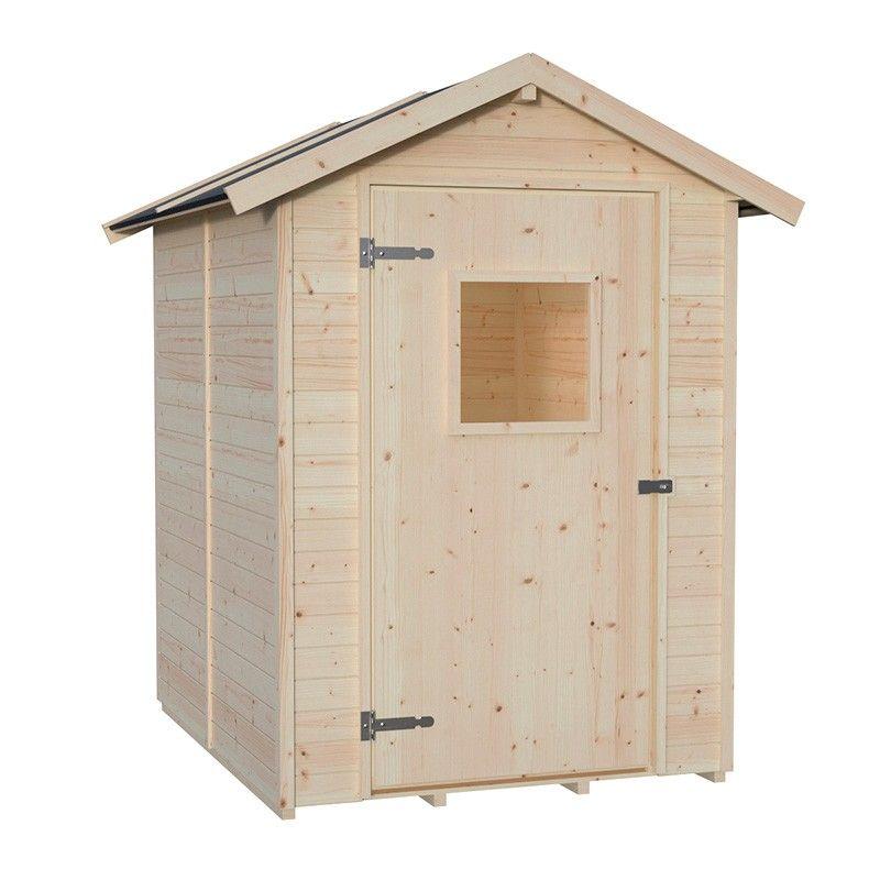 Cobertizo de madera Tata. 13 mm, 140 x 175 cm. 2.54 m²