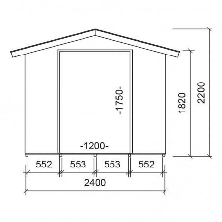 Medidas caseta de madera para jardín Igor. 13 mm, 240 x 175 cm, 4.2 m²