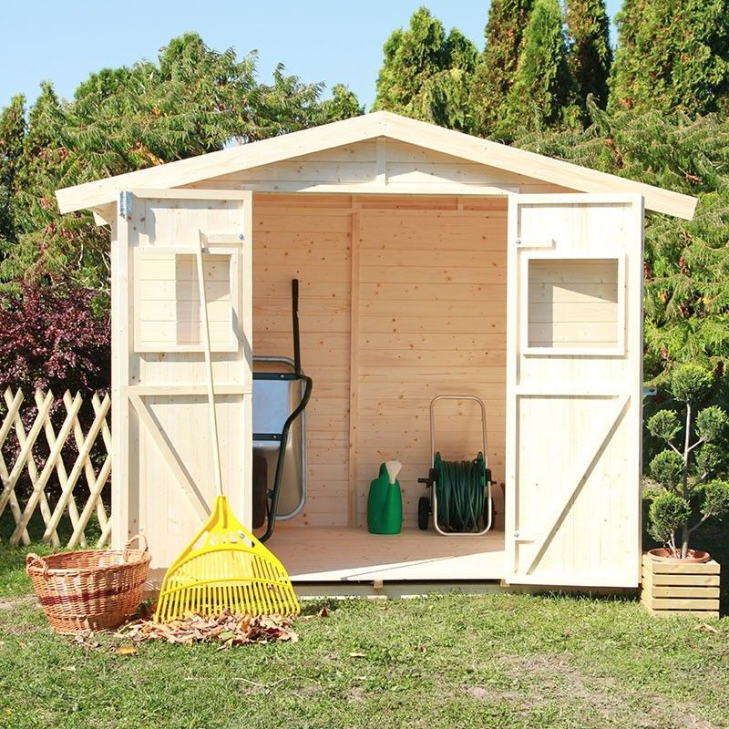 Caseta de madera para jardín Igor 240 x 175 cm, 4,2 m²