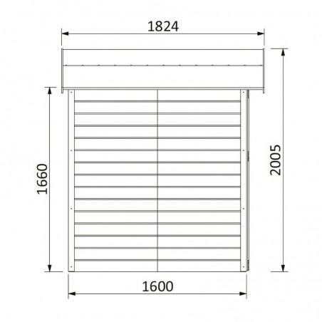 Medidas caseta de madera para jardín Lodeo | Exclusiva Hortum.es