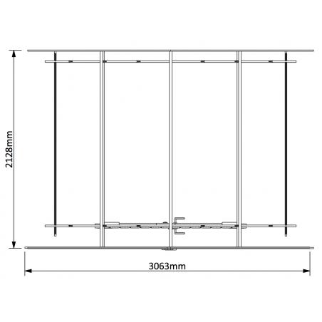 Plano medidas caseta de madera Miloman