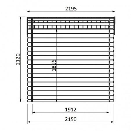 Medidas de caseta de madera para jardín Malo - 233 x 215 cm, 5 m²