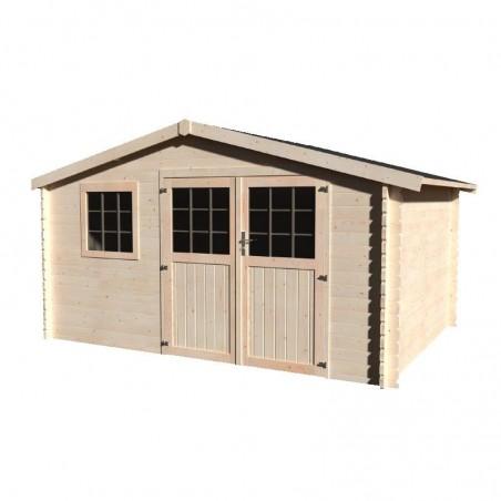 Caseta de madera para jardín Valeria. 34 mm, 400 x 300 cm, 11.86 m²