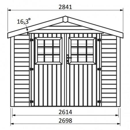 Medidas caseta de madera Turenne - 270x275 cm