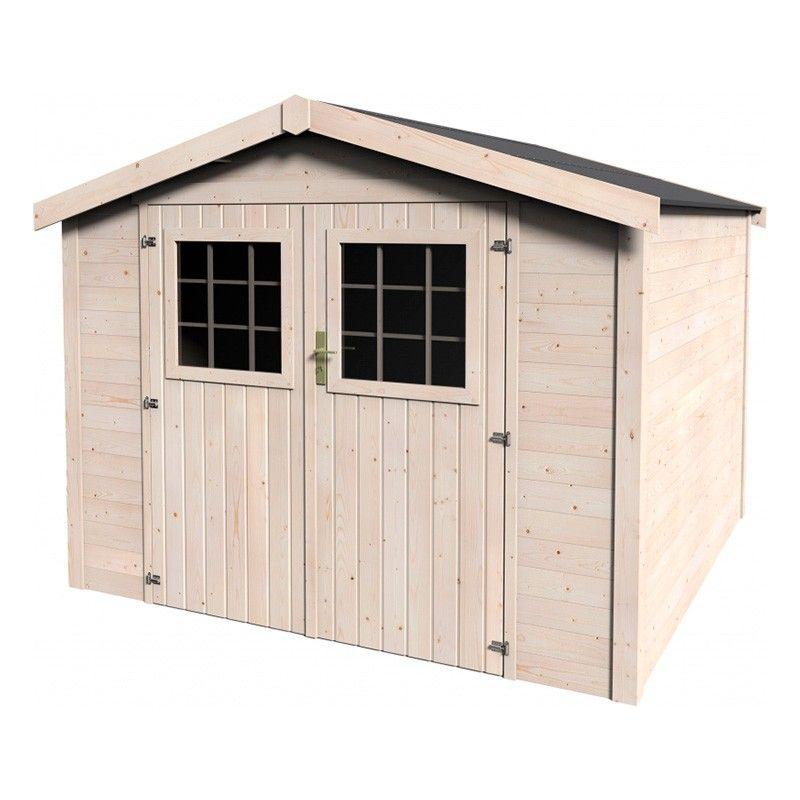 Caseta de madera para jardín Turenne - 28 mm, 270 x 275 cm
