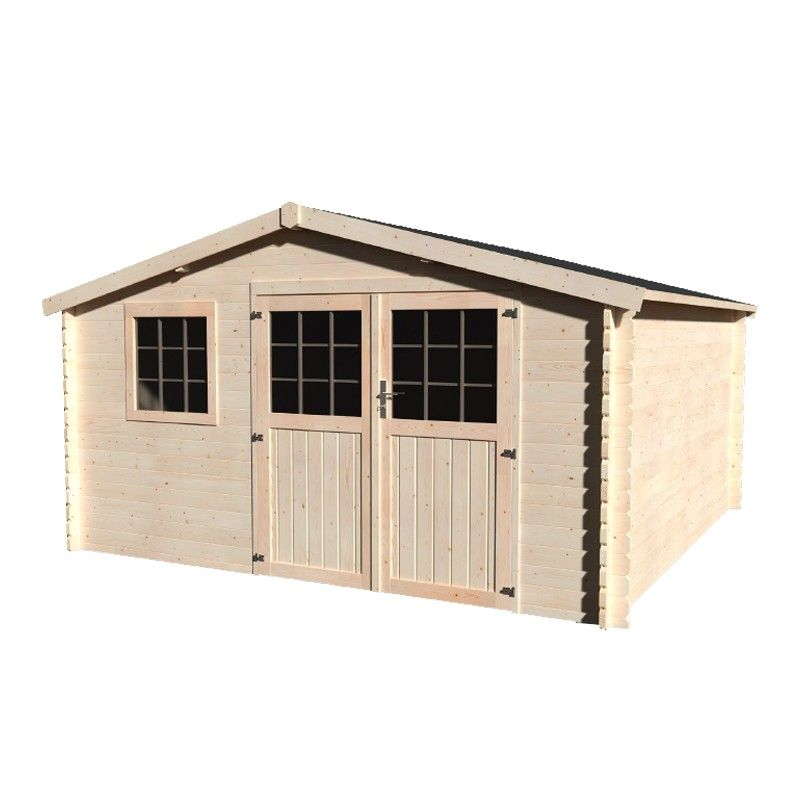 Caseta de madera para jardín Vallauris - 34 mm, 400 x 400 cm, 15.84 m²