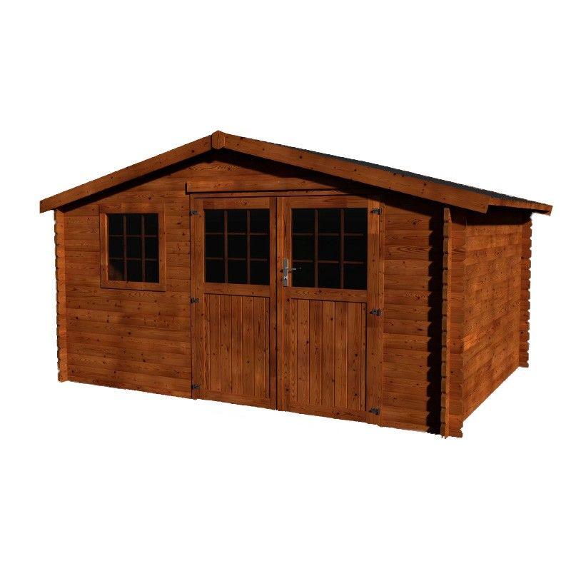 Caseta de madera tratada en autoclave Vallauris. 34 mm, 400 x 400 cm, 15.84 m²