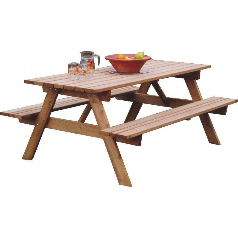 Mesa de madera picnic
