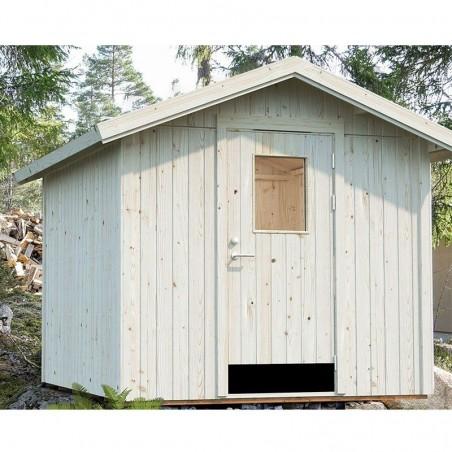 Cobertizo de madera para jardín Lucas con paneles de 16 mm y espacio para aislamiento