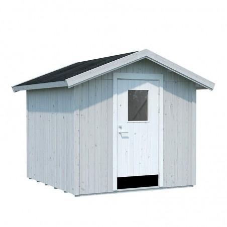 Cobertizo de madera para jardín pintado en gris modelo Lucas 5,4m²