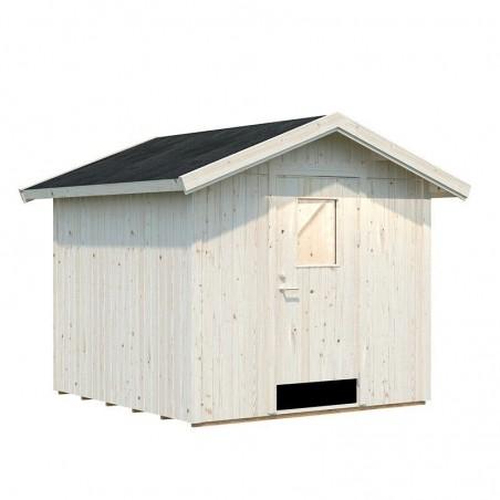 Cobertizo de madera para jardín Lucas 233x239 cm, 5.4m²