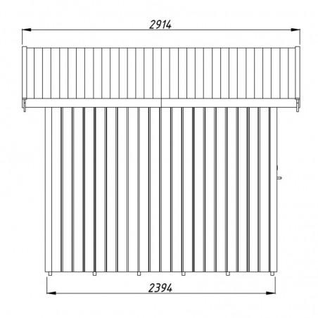 Medidas cobertizo de madera para jardín Lucas  233x239 cm, 5.4m²