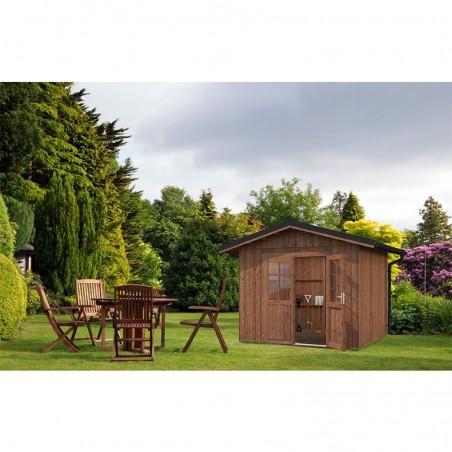 Caseta de madera tratada en marrón 7,9m²