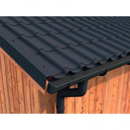 Techo de metal para caseta de madera tratada Tiago 11m²