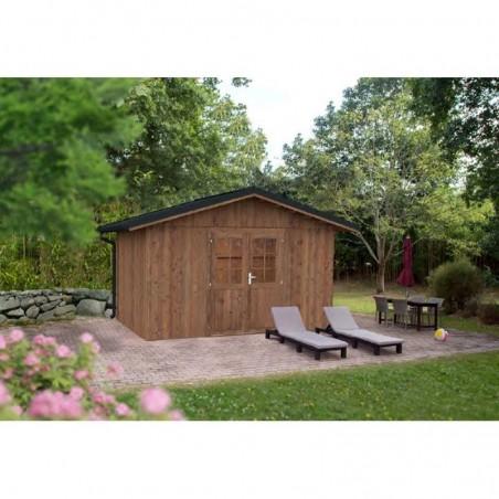 Caseta de madera tratada Tiago 11m²