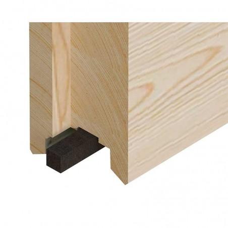 Paneles de madera laminada encolada , detalle. Para caseta de madera Grace
