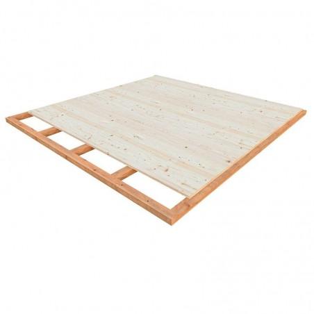 Suelo para caseta de madera laminada con techo plano Grace 8,1+4,1 m²