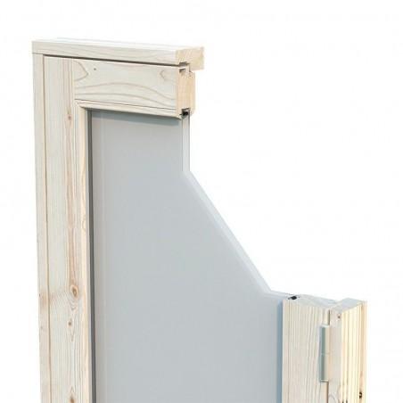 Ventanas de doble cristal caseta de madera Grace