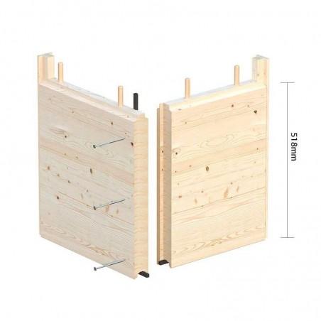 Paneles de madera laminada encolada para caseta de madera Grace