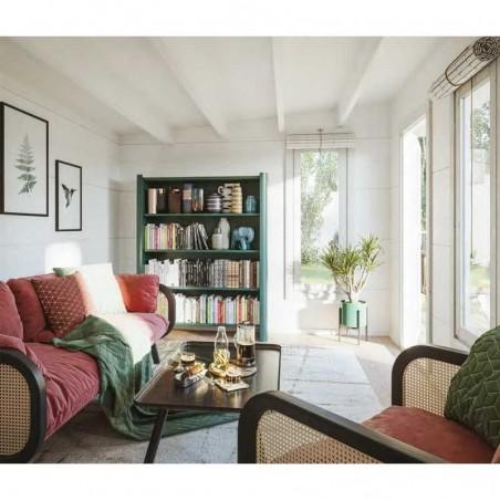 Interior caseta de madera laminada con techo plano Grace 12,4+4,1 m²