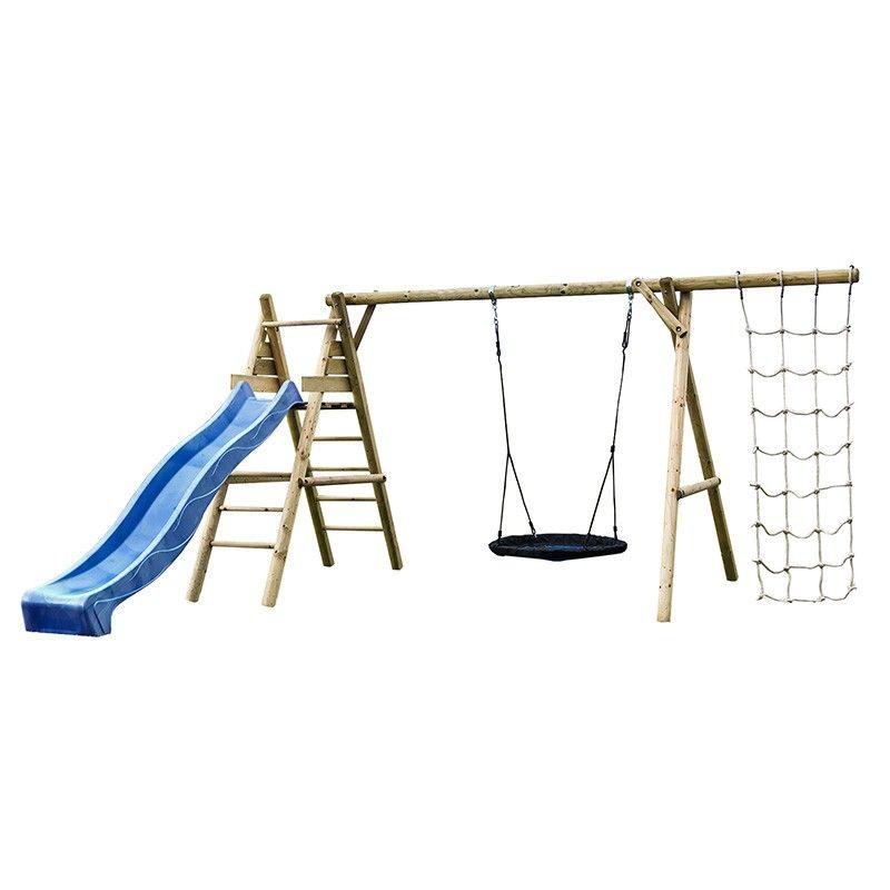 Parque de madera infantil Kalev 470x200x230 cm
