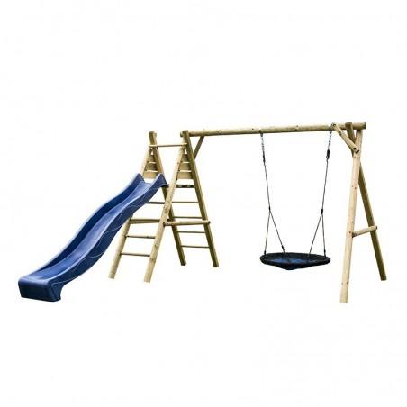 Parque infantil Kasper con tobogán azul 366x200x230cm