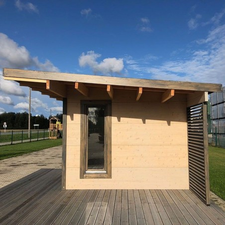 Caseta madera con techo plano Grace
