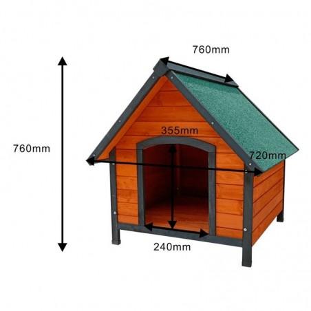 Medidas caseta para perro de madera Sweet 72x76x76 cm