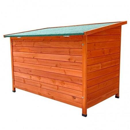 Caseta para perros con techo con techo plano a un agua